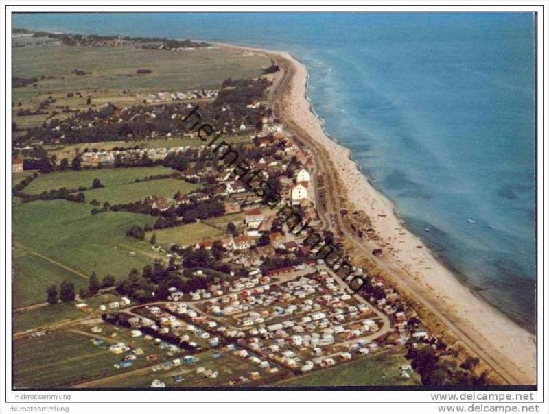 Schönberger Strand - Campingplatz - Luftaufnahme - AK-Grossformat