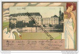 Basel - Universität - Jugendstil signiert HE