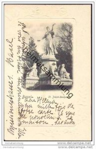 Basel - St. Jakob Denkmal - Prägedruck