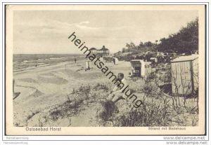 Ostseebad Horst - Niechorze - Strand mit Badehaus