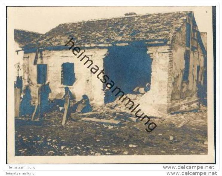 Semendria (Smederevo) - Zerstörtes Haus - Foto-AK ca. 1915