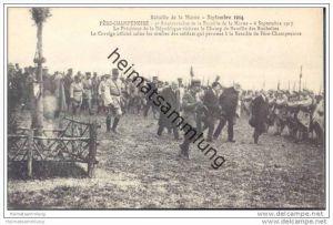 Fere-Champenoise - 3er Anniversaire de la Bataille de la Marne - Le President