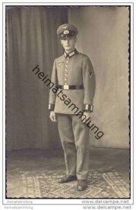 Soldat in Uniform - Panzertruppe - Foto-AK