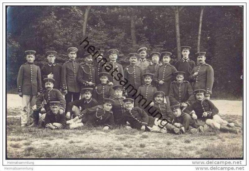 Gruppenfoto - Soldaten - Foto-AK - Stempel Lamsdorf Übungsplatz