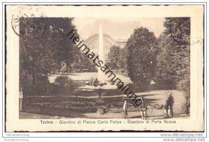 Torino - Giardino di Piazza Carlo Felice - Statione di Porta Nuova