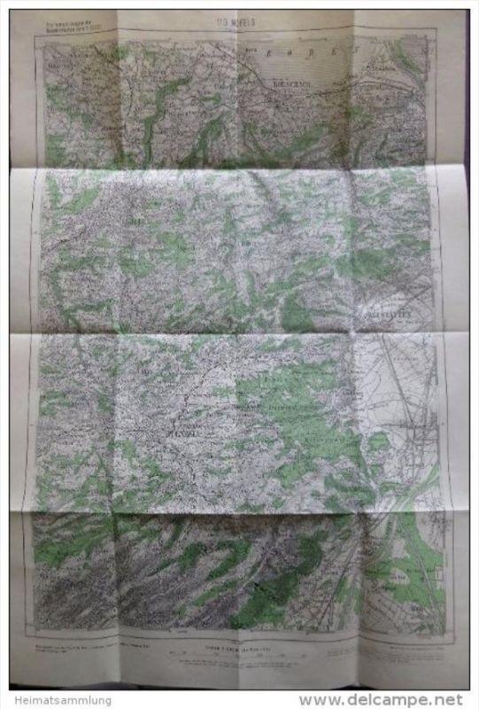 110 Nofels - Provisorische Ausgabe der Österreichischen Karte 1:50.000 - Herausgegeben vom Bundesamt für Eich- u. Vermes