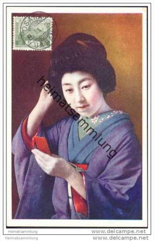 Japan - Japanerin 1926 - Kimono - Geisha