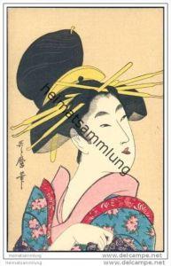 Japan - Geisha - Tuschezeichnung - Jugendstil