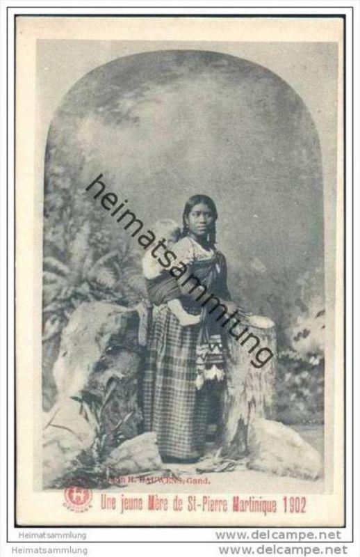 Martinique - St. Pierre - Une jeune Mere ca. 1900