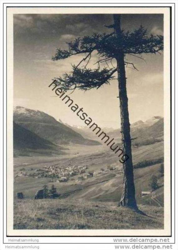 Zuoz - im Engadin - Foto-AK Grossformat 30er Jahre