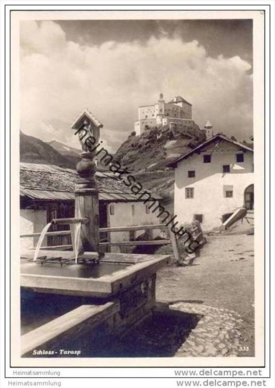 Tarasp - Foto-AK Grossformat 30er Jahre
