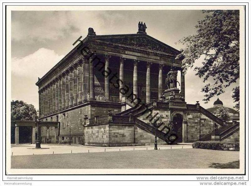 Berlin - Nationalgalerie - Foto-AK Grossformat 30er Jahre