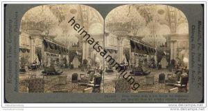 Indien - Grosse Durbar Halle im Palast des Maharadschas von Gwalior - Keystone View Company - Stereofotographie