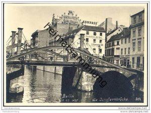 Berlin-Mitte - Jungfernbrücke - Gebr. Gause Butter-Handlung - Foto-AK Handabzug 50er Jahre