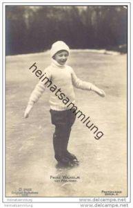 Prinz Wilhelm von Preussen - zweiter Sohn des Kronprinzenpaares beim Schlittschuhlaufen
