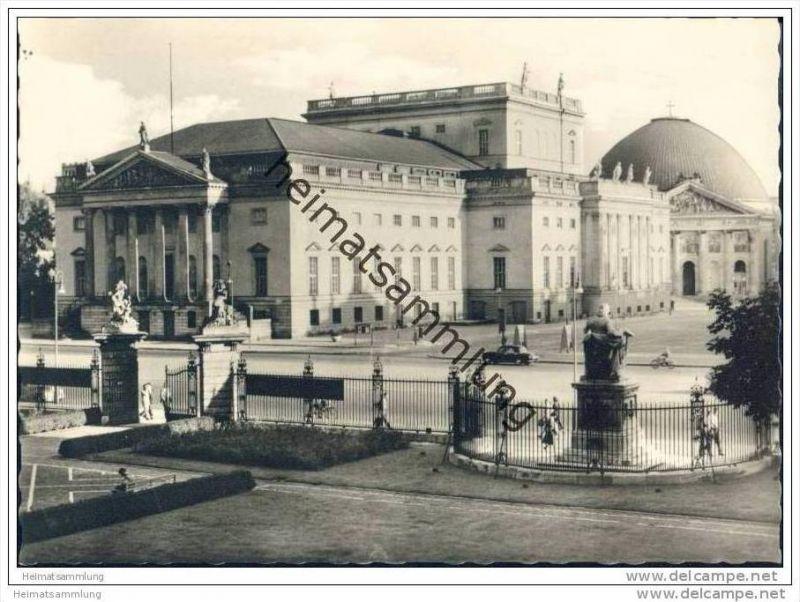 Berlin-Mitte - Deutsche Staatsoper - Foto-AK Grossformat 1960