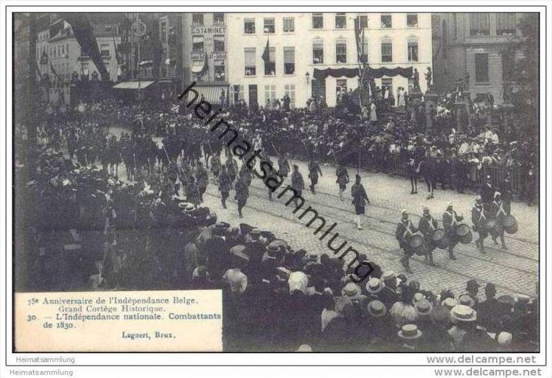 75e Anniversaire de l'Indépendance Belge - Grande Cortège Historique - L'Indépendance nationale