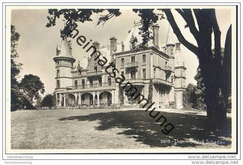 Thun - Schloss Schadau - Foto-AK 20er Jahre