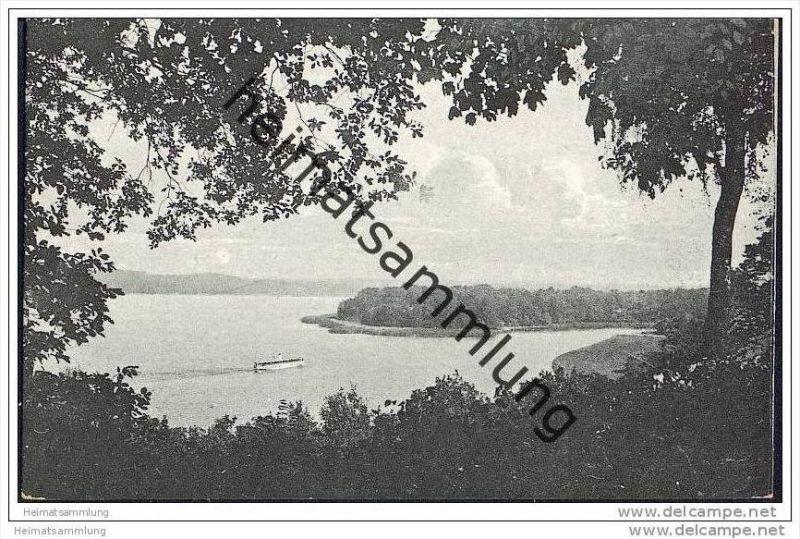 Berlin-Wannsee - Blick von Nikolskoe auf die Pfaueninsel 30er Jahre