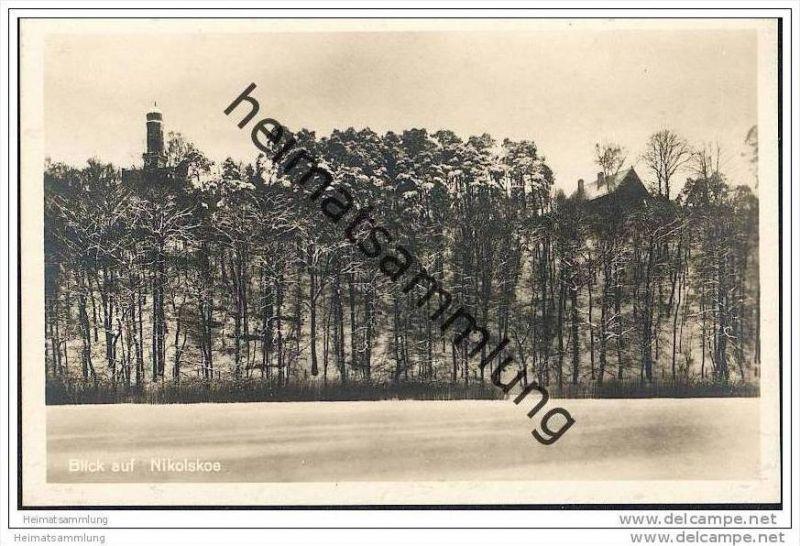 Berlin-Wannsee - Blick auf Nikolskoe - Foto-AK ca. 1930