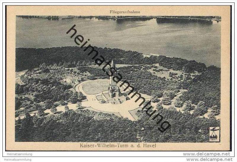 Berlin-Grunewald - Kaiser-Wilhelm-Turm - Fliegeraufnahme