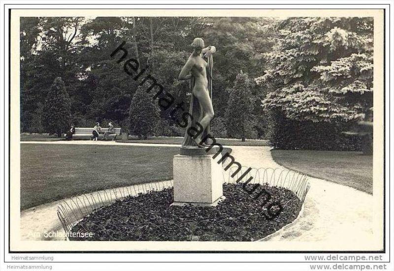 Berlin-Grunewald - Am Schlachtensee - Denkmal - Foto-AK 30er Jahre