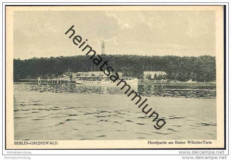 Berlin-Grunewald - Havelpartie am Kaiser-Wilhelm-Turm