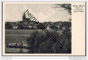 Waren-Müritz - Blick von den Tannen auf die Stadt