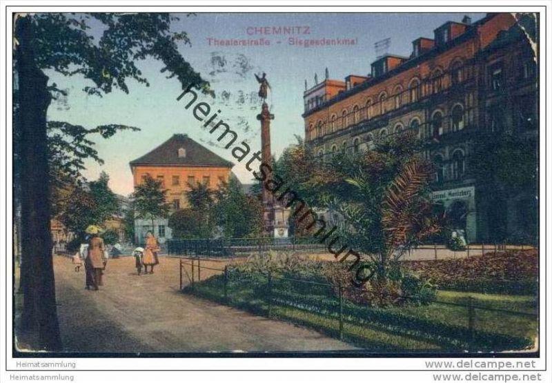 Chemnitz - Theaterstrasse - Siegesdenkmal