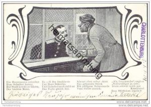 Post - Sprüchekarte - Jugendstil