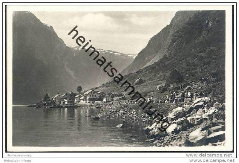 Gudvangen - Foto-AK 30er Jahre