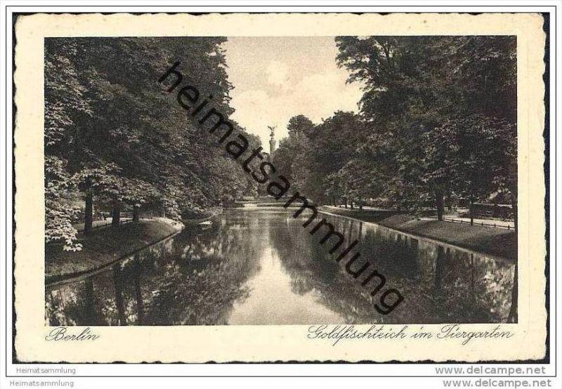 Berlin-Tiergarten - Goldfischteich