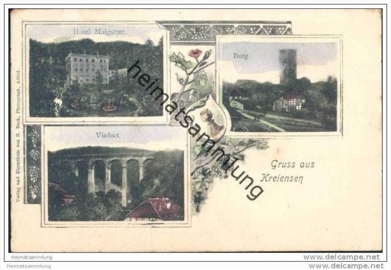 Gruss aus Kreiensen - Hotel Maigatter - Burg - Viadukt