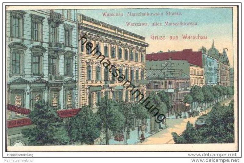 Gruss aus Warschau - Marschalkowska Strasse