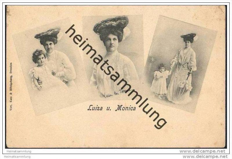 Prinzessin Luise von Toscana - Kronprinzessin von Sachsen - verheiratet mit Friedrich August III - Töchterchen Anna Moni