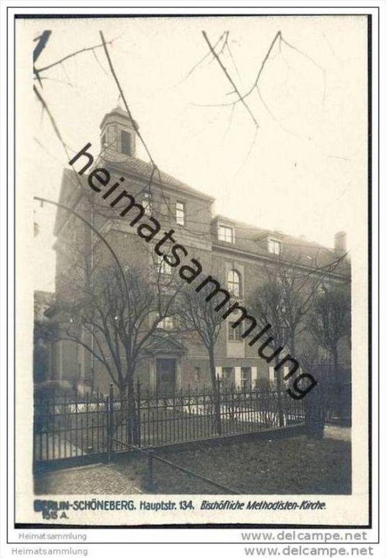 Berlin-Schöneberg - Bischöfliche Methodistenkirche - Hauptstrasse 134 - Foto-AK 30er Jahre