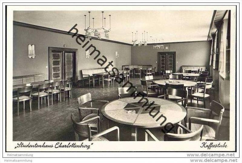 Berlin-Charlottenburg - Studentenhaus Charlottenburg - Kaffeestube - Foto-AK 1937