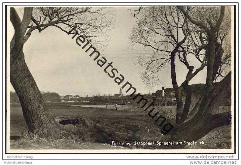 Fürstenwalde - Spreetal am Stadtpark - Foto-AK 30er Jahre