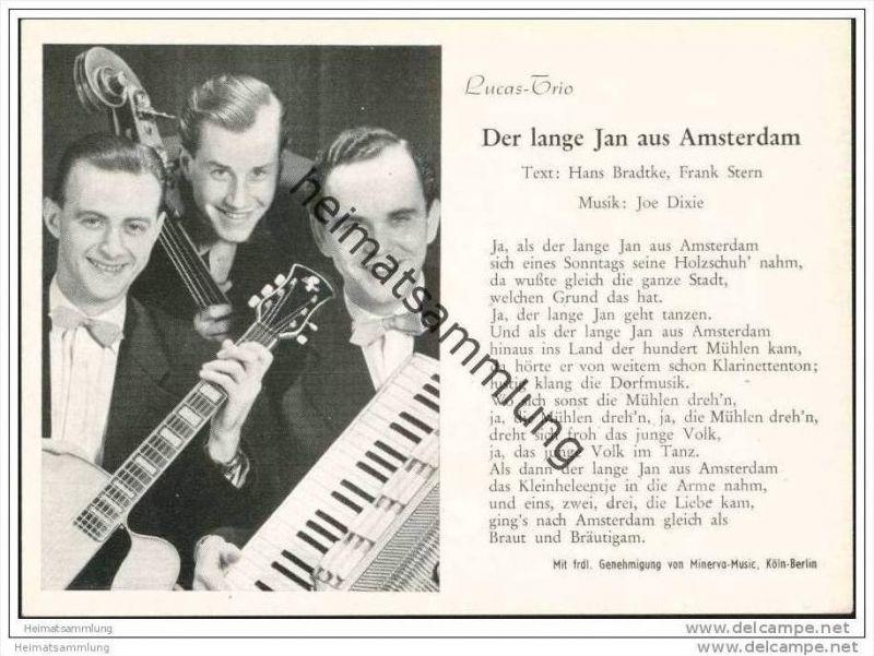 Lucas-Trio - Der lange Jan aus Amsterdam - 1954