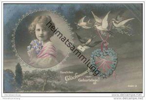 Herzlichen Glückwunsch zum Geburtstage - Mädchen - Tauben