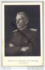Oberst Sprecher von Bernegg - Generalstabchef - Schweizer. Grenzbesetzung 1914 Occupation des frontières
