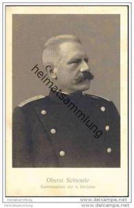 Oberst Schiessle - Kommandant der 6. Division