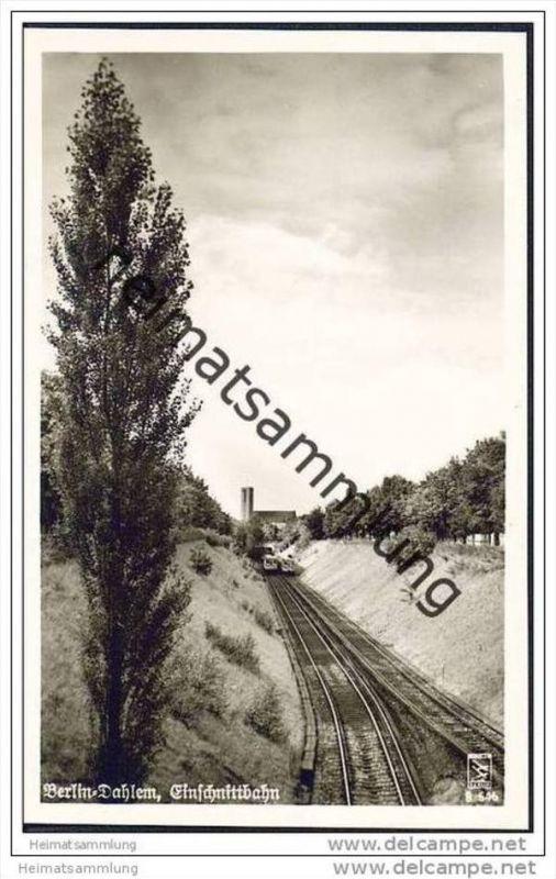 Berlin-Dahlem - Einschnittbahn - U-Bahn - Foto-AK  50er Jahre