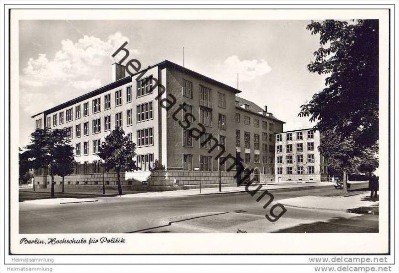 Berlin-Dahlem - Hochschule für Politik - Foto-AK  50er Jahre