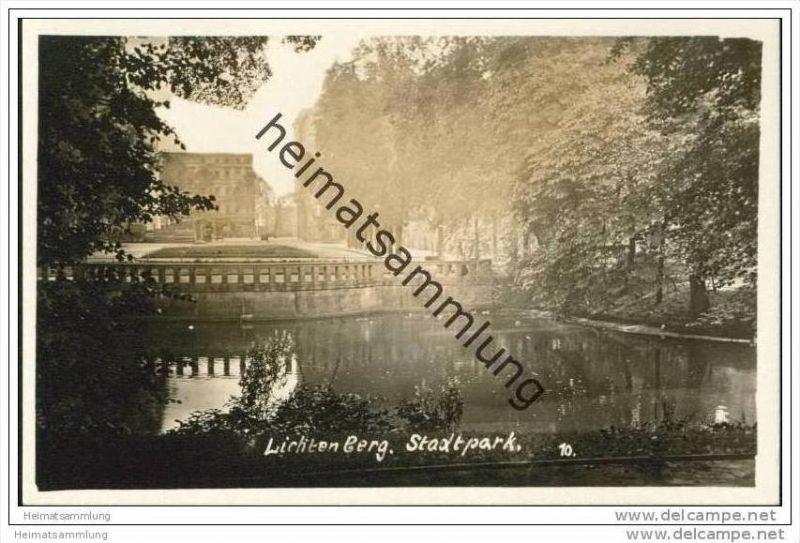 Berlin-Lichtenberg - Stadtpark Foto-AK 30er Jahre