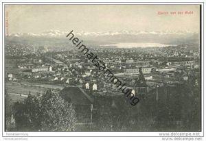 Zürich - Blick auf Zürich von der Waid ca. 1910