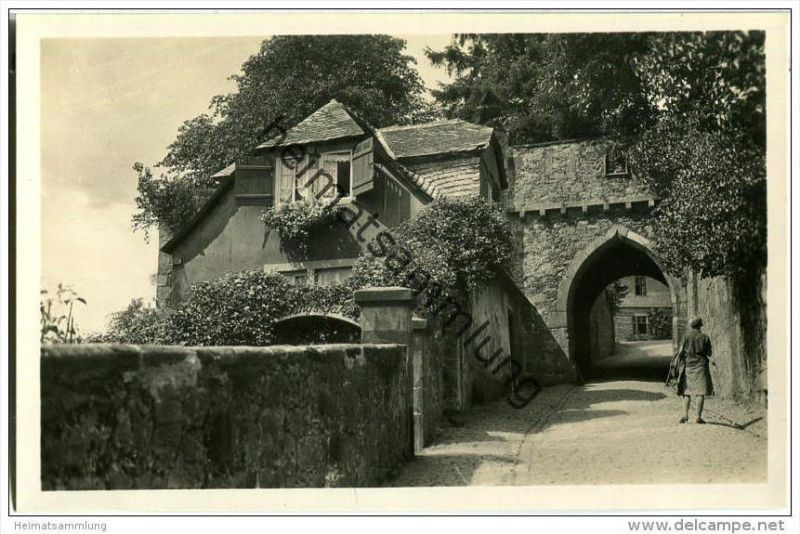 Marburg - Aufgang zum Schloss - Foto-AK