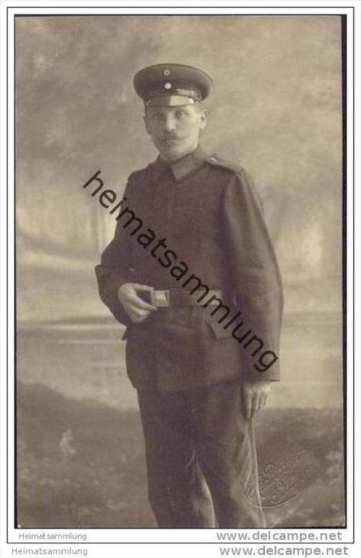 Soldat - in Uniform - Foto-AK