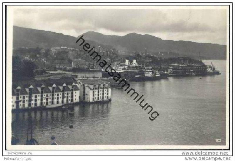 Bergen - Foto-AK 20er Jahre