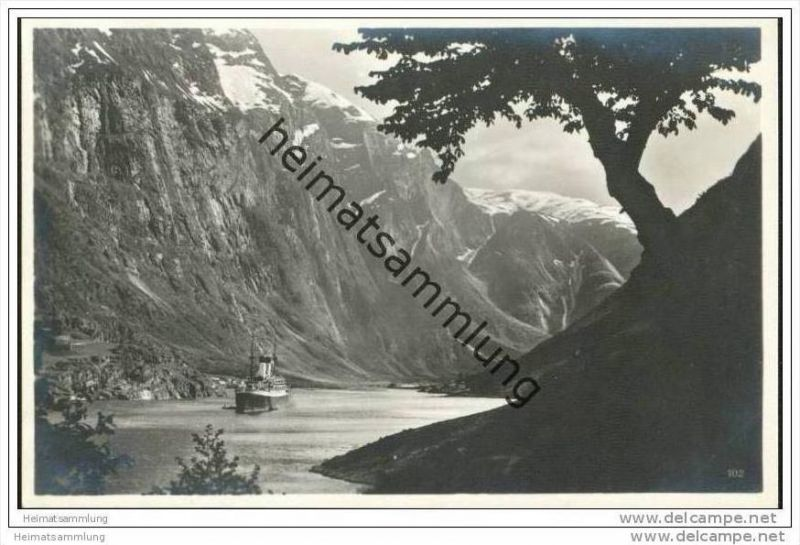 Naerofjord - Foto-AK 20er Jahre